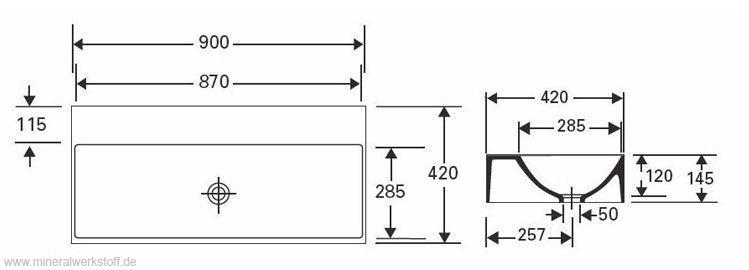 varicor waschtischmodell circus 90 und 120t. Black Bedroom Furniture Sets. Home Design Ideas